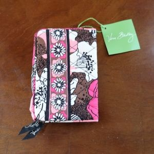 Vera Bradley One for the Money Wallet Mocha Rouge